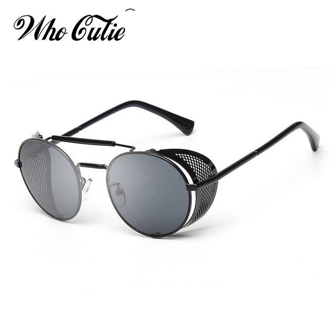 d01808d7bda3a5 QUI CUTIE 2018 Ronde Steampunk Lunettes lunettes de Soleil Hommes Marque  Designer Vintage Rétro Cercle Métal