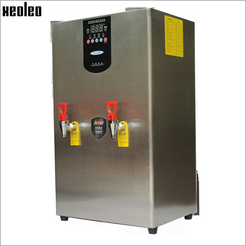Xeoleo Commercial 40L Water dispenser Hot Water machine 120L/H Stainless steel Water boiler for bubble tea shop 3000W купить недорого в Москве