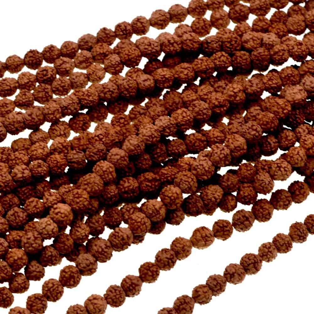 Free Shipping Natural Stone 6mm Rudraksha Beads Round Spacer Loose Beads Approx 108bead