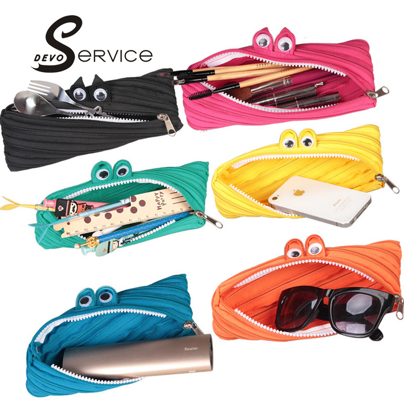 Novelty Candy Colors Zipper Monsters Pencil Case Girl Boys School Storage Bag Shcool Estuches Material Escolar