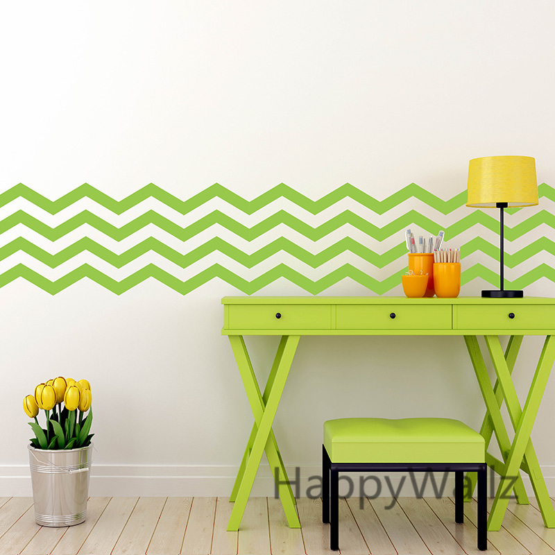 Lovely DIY Chevron Wall Sticker Chevron Stripe Wall Decals Modern Mural Wallpaper  Removable Easy Wall Art Stickers Chevron Decors P63 In Wall Stickers From  Home ...