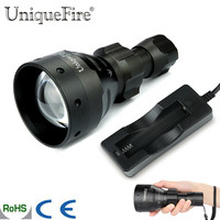 UniqueFire 1504 LED Infrared Flashlight 67mm Convex Lens 3 Modes 850nm IR Torch+Charger For 18650 Battery Camping Outdoor