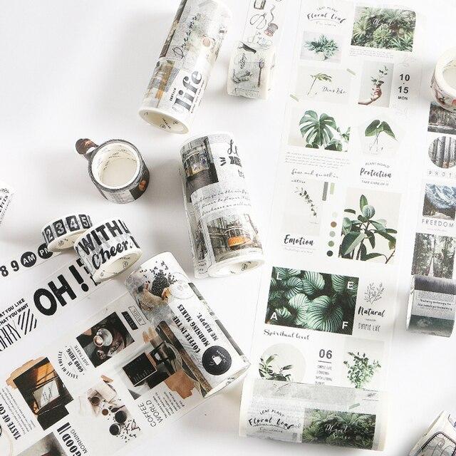 Cinta de Washi para viaje DIY Scrapbooking etiqueta adhesiva cinta adhesiva para oficina escolar