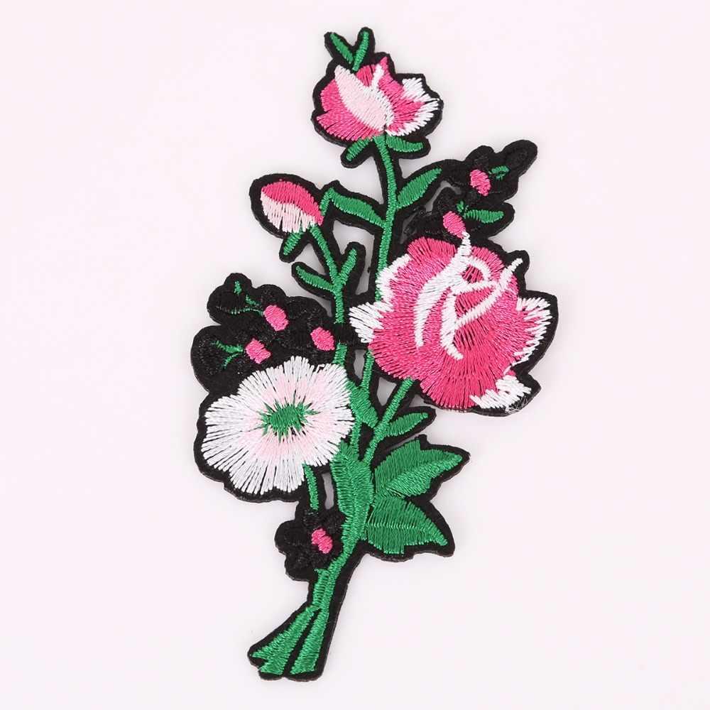 1 Pc Brand Bloem Patches Grote Stickers Borduurwerk 3D Rode Roos Applique Motif Applique Kledingstuk Vrouwen DIY Kleding Bruiloft Patch