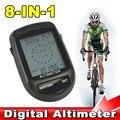 Digital 8 in1 LCD Retroiluminación Brújula Altímetro Barómetro Termómetro Pronóstico del tiempo de Ciclo de La Bicicleta + Soporte de Bicicleta