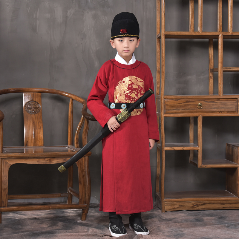 2018 autumn children's costume hanfu boys perform costumes qin hanfu taizi tang dynasty sinology photography photography photo 2017 autumn kids costume girls hanfu stage clothing photography costume song of the goose