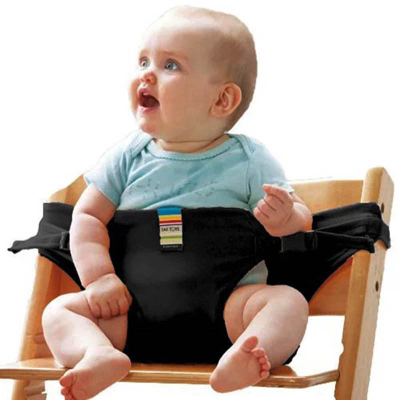Baby Portable Seat Dining Chair Safety Belt Lunch Seat Travel Foldable Stretch Wrap Feeding Chair Harness Baby Booster Seats