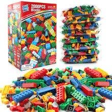 2000Pcs DIY Creative Building Blocks Sets LegoINGLs City Creator Classic Bricks Educational Toys for Children Christmas Gifts цены