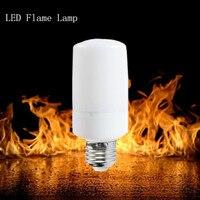 LED Flame lamp E27 E14 E12 5W 9W AC85 265V Flickering Effect Lighting Flame Bulb For Room Decorative Atmosphere LED Light