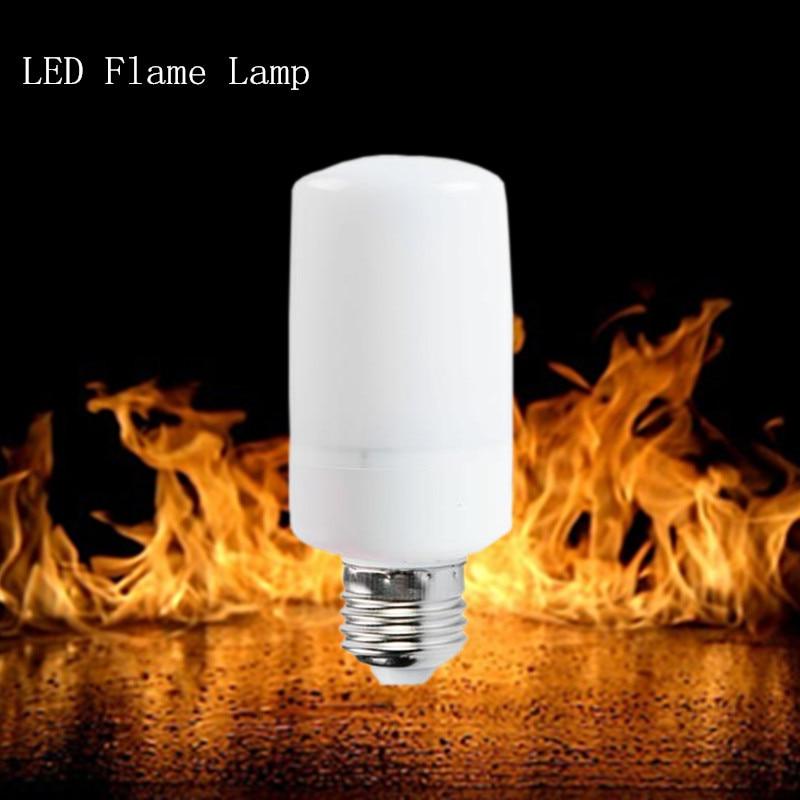 Neue licht led-lampe E27 E14 SMD2835 AC110V-220V LED flamme lampe Flamme Lichteffekt Feuer Mais BulbFlickering Emulation Nachtlicht
