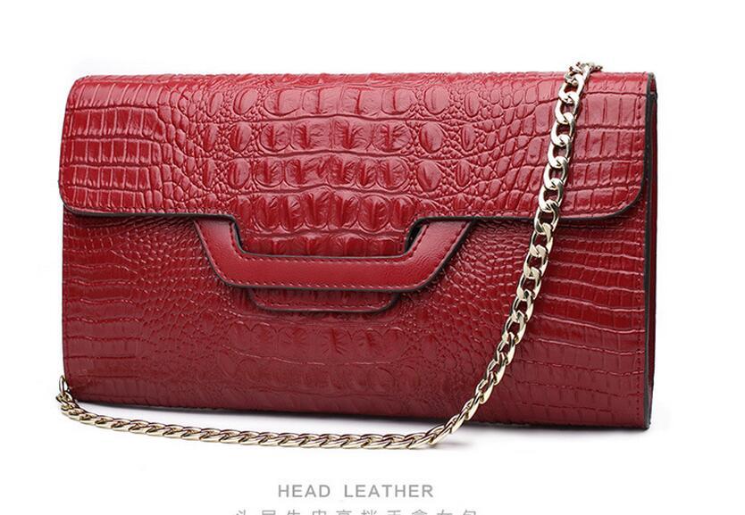 Новое поступление Весенняя женская сумка из воловьей кожи на день cl, сумка utch, маленькая сумка-конверт, мини сумка-мессенджер из натуральной кожи - Цвет: red