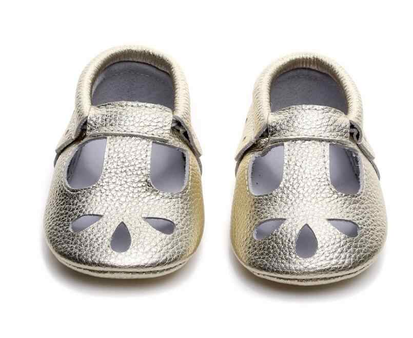 ... 2019 high quality Genuine Leather Hollow Water Drops style Baby  Moccasins Soft Sole Baby Boys Girls ... 6b59246181f9