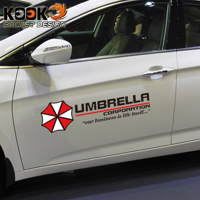 Resident evil umbrella car stickers sticker funny bumper stickers modified door scratches car accessories car covers automobiles on aliexpress com alibaba