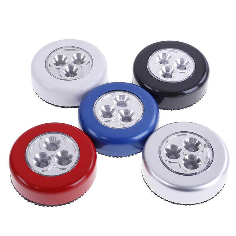 3 LED Silber Schrank Schrank Lampe Batterie Powered Drahtlose Stick Tap Touch Push Sicherheit Küche Schlafzimmer Nacht Licht