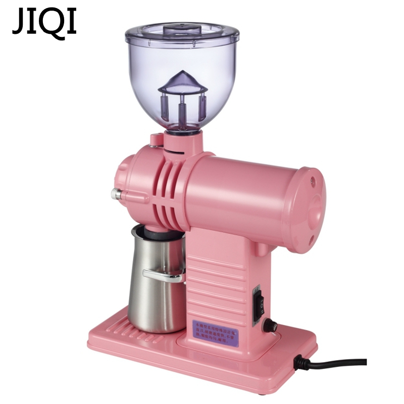 JIQI 220V/110V Electric Coffee Grinder Maker 200W big power Electric Beans Grinding Machine yellow black white