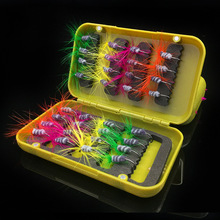 32pcs/box Mixed Colors Fly Tying Fishing Hooks 8# Fly Fishing Flies Lure Set Circle Fishhooks Fishing Accessories