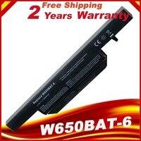 11.1V 4400mAh 48.84Wh laptop battery for Hasee K610C K650D K570N K710C K590C K750D series Clevo W650S W650BAT 6 batterie