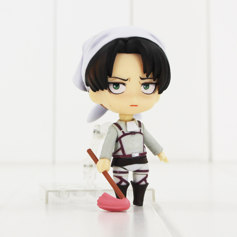 Nendoroid Cleaning Version Attack on Titan Levi 417 PVC Figure Collectable toys 25cm levi ackerman rivaille li weier soldiers attack on titan trunk standing battle edition pvc action figure model toys