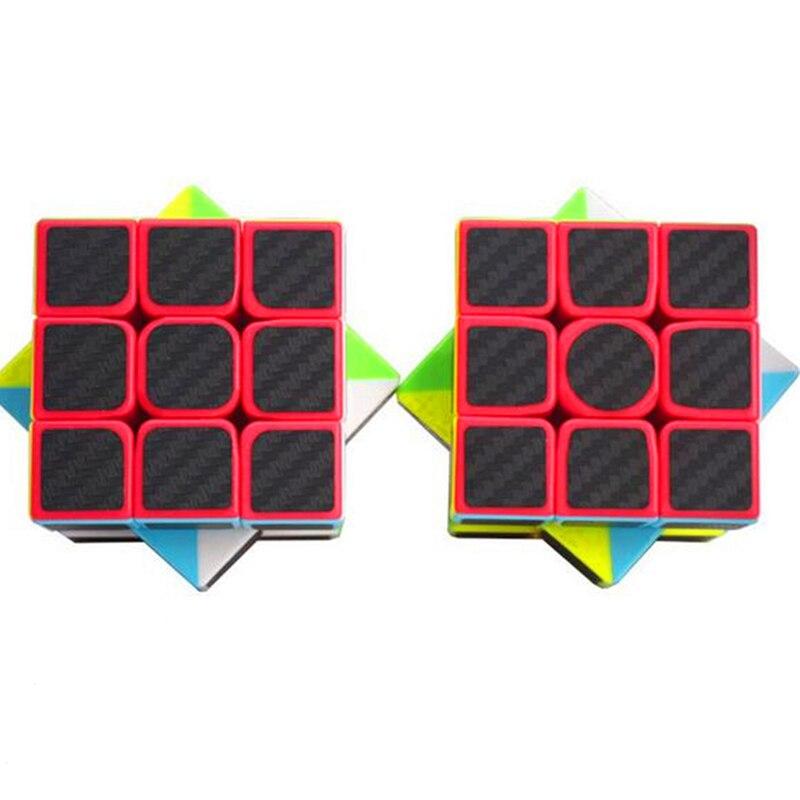 Cubos Mágicos brinquedos educativos para as crianças Modelo Número : Carbon Fiber Sticker Cube