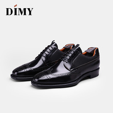 DIMY Goodyear custom hand-brushed Derby shoes mens leather business dress British wind wedding groom
