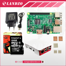H Raspberry Pi 3 Modèle B starter kit-pi 3 conseil/pi 3 cas/Européenne alimentation/16G carte mémoire/chaleur évier