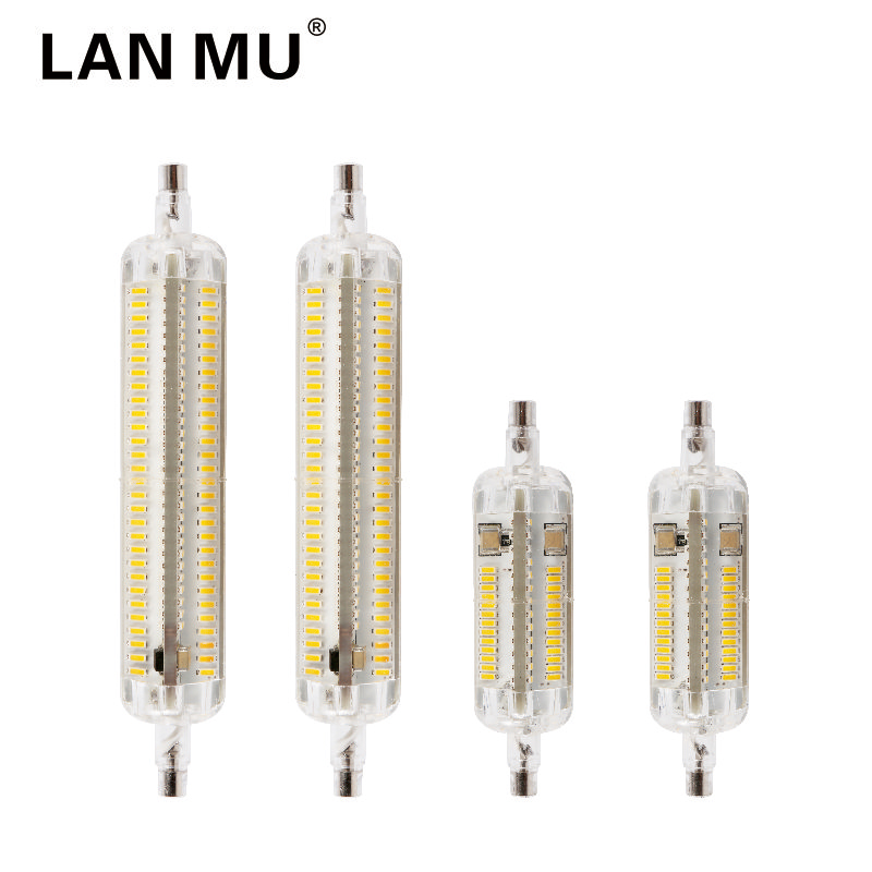 New Silicone r7s LED Lamp 10W 15W SMD 3014 78mm 118mm LED R7S Light Bulb 220V Energy Saving Replace Halogen Light Lampada led r7s led lamp 78mm 118mm 5w 10w led r7s light corn bulb smd2835 led flood light 85 265v replace halogen floodlight