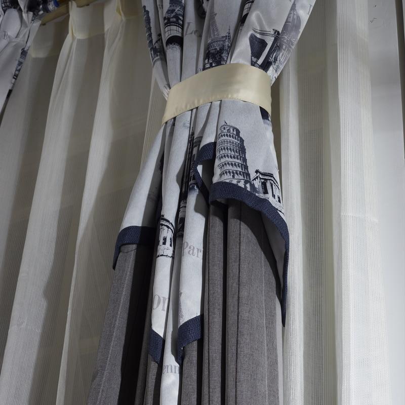 grey extreme maan paradise luxe mooi dorp wit schilderen europese tekening draperie mode kwaliteit luxe gordijnen afgewerkt in grey extreme maan paradise