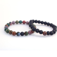 Factory Direct Foreign Trade Hot Jewelry Accessories 8mm Indian Matte Combination Beaded Men And Women Bracelet factors affecting foreign direct investment mineral mining sector