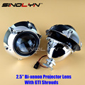 SINOLYN Car Styling Retrofit Mini 2.5 inch HID Bixenon Projector Headlight Lens Automobiles Headlamp Lenses H1 GTI Shrouds H4 H7