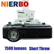 Business Projectors Full HD 1080P DLP Ultra Short Throw Beamer 7500 Lumens 3D Daylight Portable HDMI for Meeting Wedding Office