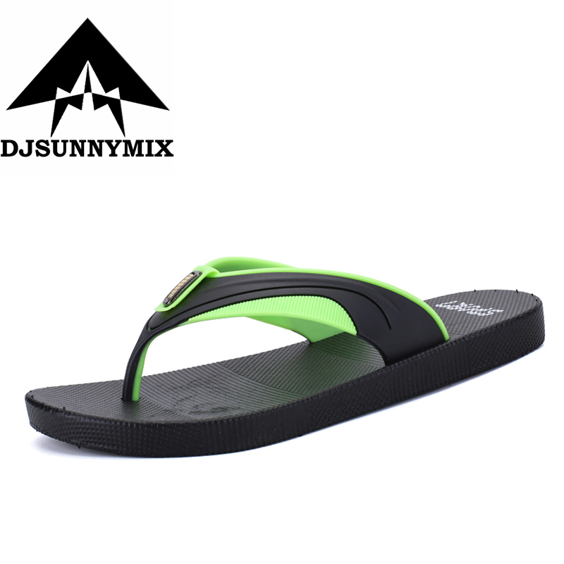 DJSUNNYMIX  2018 Hot Selling Fashion Beach Slippers Flip Flops Mens Slippers EVA Casual Men Shoes Summer sandals hot sale natural man hemp flip flops summer breathable fashion beach sandal shoes men s casual canvas slides shoes free shipping