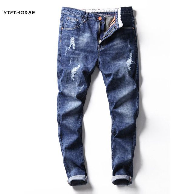 b5a44ea9b797 2017 sommer männer elastische jeans herren Koreanische beiläufige nussbaum  Herren Jeans Homme Biker Denim Overalls Männer