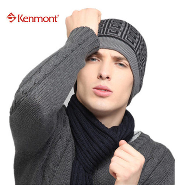 31a2486f667 New Unisex Women Men Winter Two Dark Colors Earflap Ski Beanie Caps Wool Knit  Hats For Valentines Gift 1349