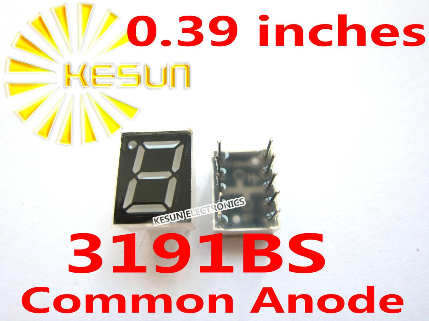 200PCS X 0.39 Inches Red Blue 3191BS 3191AS 3191AB 3191BB Common Anode/Cathode Single Digital Tube LED Display Module Light Bead