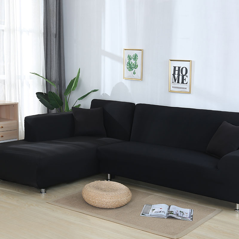 L En Forme de couverture de canapé Spandex housse canapé Amovible housse canape housses de canapé pour Salon Coupe couverture de lit ensemble de sofa