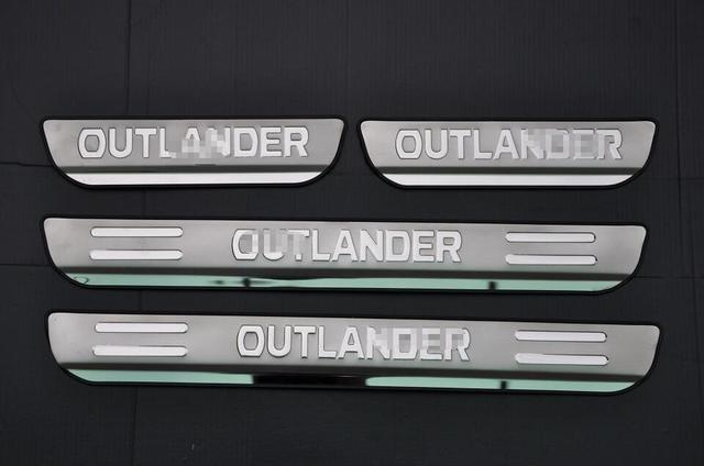 Door sill plate,scuff plate threshold for  outlander 2013 2014 2015 stainless steel,free shipping,auto accessories