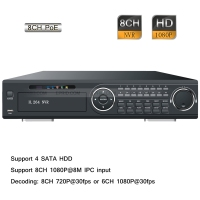 8CH 8 POE Full HD 1080P Realtime P2P CCTV Surveillance Network IP NVR 4 SATA