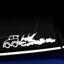 Rocket Car Cute Funny Racecar Sticker Decal Fashion Personality Creative  Rear Window