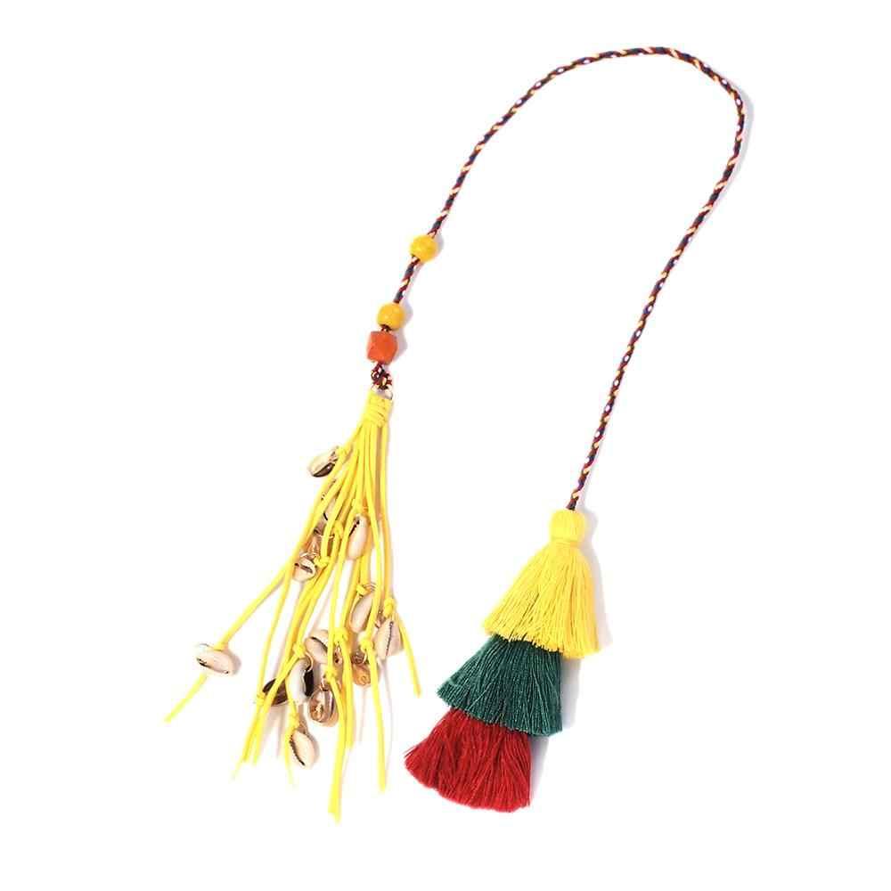 MANILAI богемный ручной работы сумка кулон Чехол женский Шарм многоцветный хлопок кисточки большой шар сумка модные аксессуары