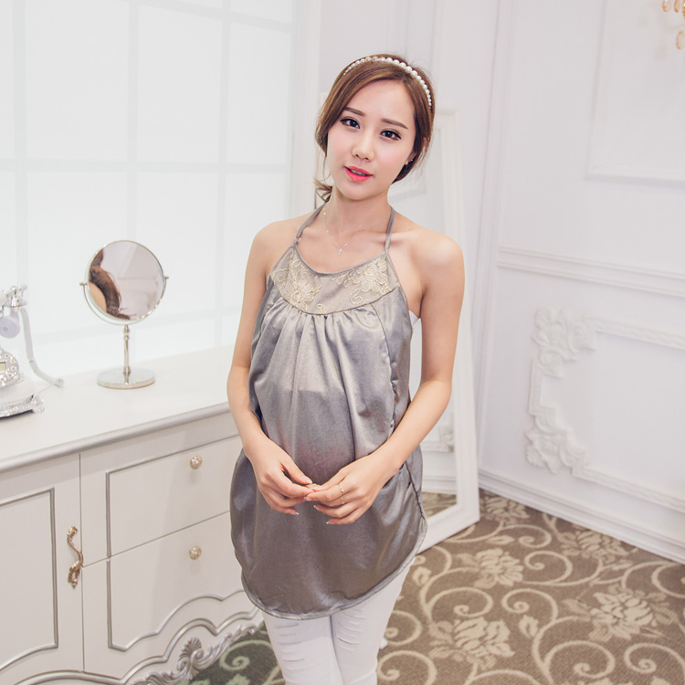 Radiation anti - radiation clothing Korean fashion genuine all - silver fiber harness radiation maternity dress silver fiber women clearance inventory radiation proof vest tops easing anti radiation maternity dresses rfid block apparel
