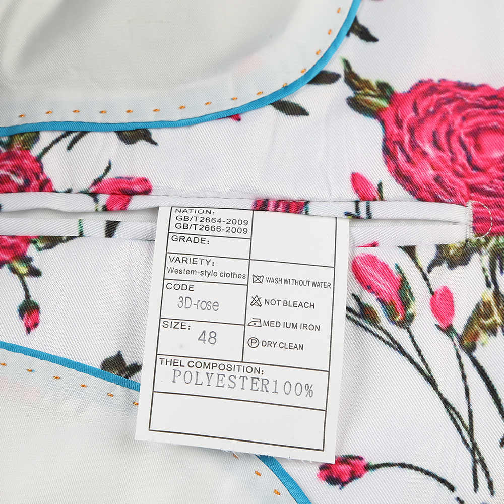 Plyesxale 3D ローズ花模様のプリントブレザー男性 2019 ブランドスリムフィットパーティーブレザー衣装オムラックス歌手ウェディング Veste q601