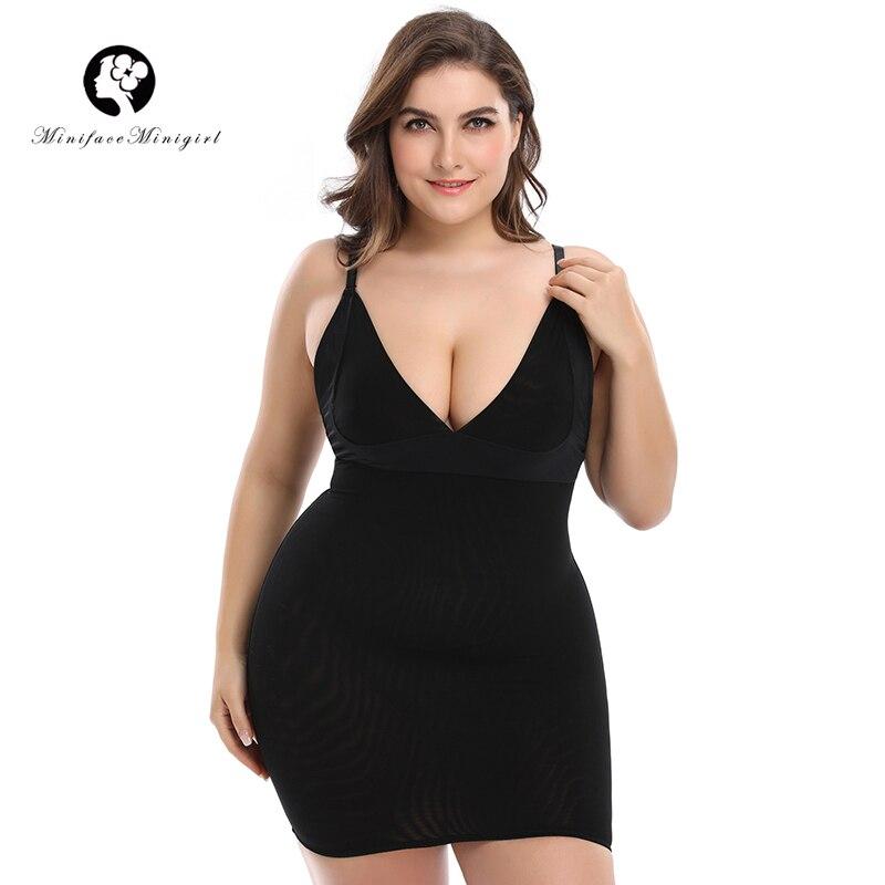 Noir Sexy Full Body Shaper Cabinet Taille Formateur Tummy Control Overbust Minceur Shapewear Sous-Vêtements Combinaisons Plus La Taille Body