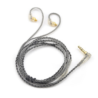 AK New 6N Single Silver Plated Cable 3 5mm Gold Cable With MMCX Connector For LZ