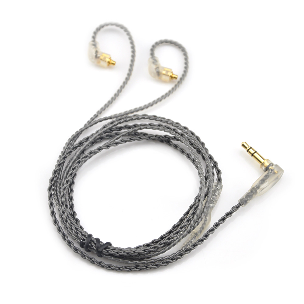 AK New 6N Single Silver Plated Cable 3.5mm Gold Cable With MMCX Connector For LZ A3 A4 DQSM HLSX Earphone