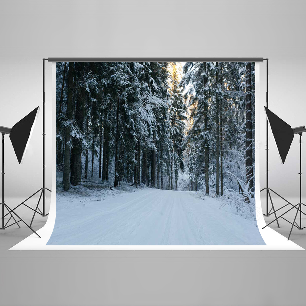 Kate Winter Forest Photography Background Snowy Photo Studio Backdrop Photography Cotton Children Snow Background kate photo background scenery