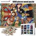 MOMEMO Ein Stück Partner Cartoon Anime Holz Puzzles 1000 stücke Puzzle Jigsaw Kinder Pädagogisches Spielzeug Geschenk Hause Dekoration-in Puzzles aus Spielzeug und Hobbys bei