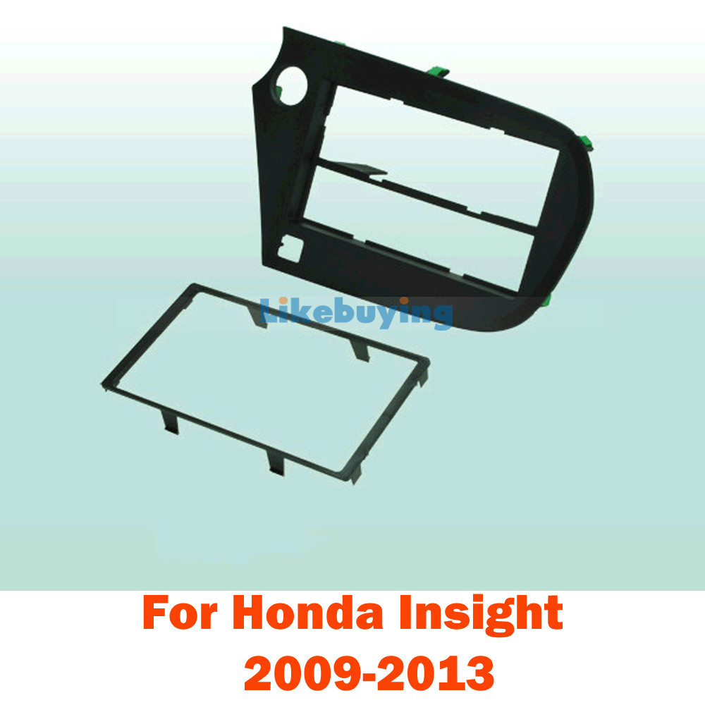 2 Din Car Fascia Frame / Audio Panel Frame / Car Dash Kit For Honda Insight 2009 2010 2011 2012 2013 Retail / Pcs Free Shipping free shipping car refitting dvd frame dash cd panel for buick excelle 2008 china facia install plate ca4034