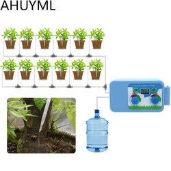Quente led conveniente micro conjunto de irrigação rega flores controlador automático temporizador eletrônico água jardim escritório em casa