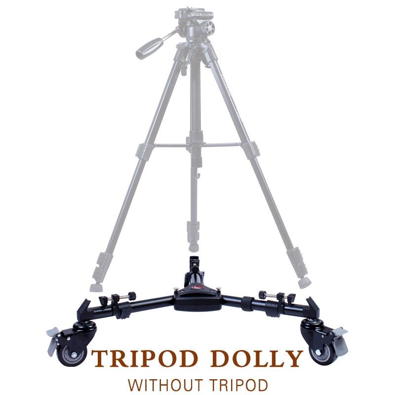 Free Tax to Russia Yunteng 901 Professional Folding Aluminum Alloy Large Size Tripod Dolly Base Stand Tripod Grand Base free tax