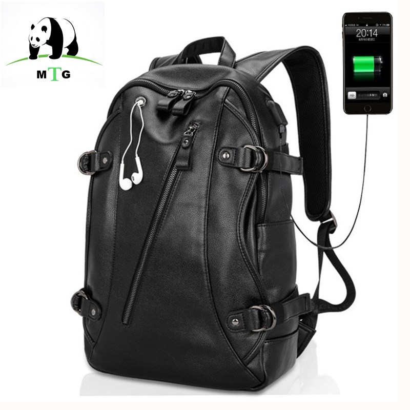 Waterproof 15 6 Inch Laptop Bag Man USB Design Backpack Bag Bags Black Backpack men School